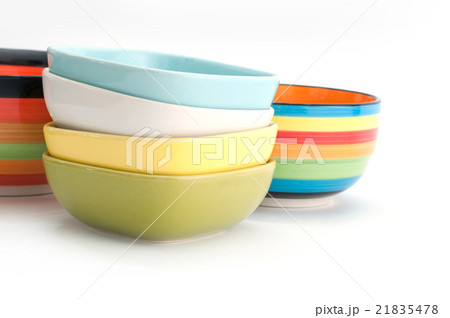 color bowl isolated on white backgroundの写真素材 [21835478] - PIXTA
