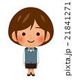 OL 女性 笑顔のイラスト 21841271