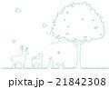 木と動物のイラスト 21842308