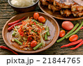 Famous Thai food, papaya salad and grilled chicken 21844765