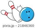 ボウリング スポーツ ゲームのイラスト 21846360
