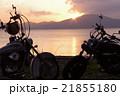 バイクと夕日 21855180