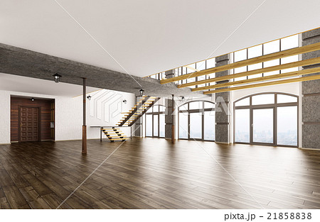 Empty interior 3d rendering 21858838