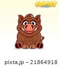 Cute Cartoon Wild Boar. Funny Vector Animal 21864918
