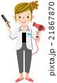 美容師 女性 人物のイラスト 21867870