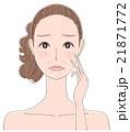 老化に悩む女性のイラスト 21871772