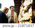 寺を観光する外国人旅行客 21871837