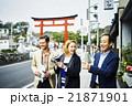 記念撮影する外国人旅行客 21871901