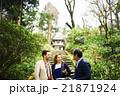 外国人旅行客を案内するガイド 21871924