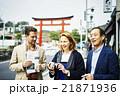 鎌倉を観光する外国人旅行客 21871936