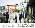 記念撮影する外国人旅行客 21872185