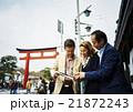 外国人 3人 観光の写真 21872243
