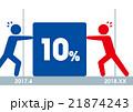 日本の消費税10%導入時期を争う人々 21874243