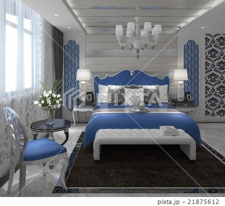 Bedroom Interior 3D Renderingのイラスト素材 [21875612] - PIXTA
