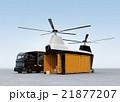 待機中のトラックと荷卸し中の貨物ドローン 21877207