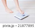 体重計と女性の足 21877895