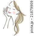 ベクター 女性 スキンケアのイラスト 21879909