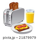 breakfast with toasts 21879979
