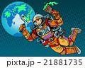 エコ ベクトル 宇宙飛行士のイラスト 21881735