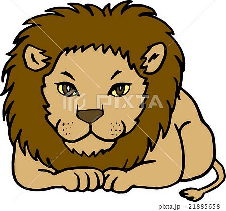 野生動物 ライオン 背景なしのイラスト素材 21885658 Pixta