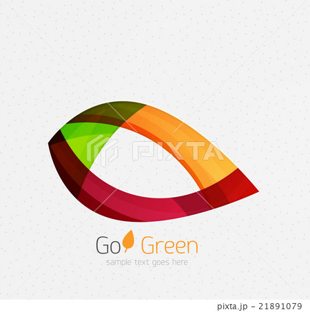 Green concept, geometric design eco leafのイラスト素材 [21891079] - PIXTA