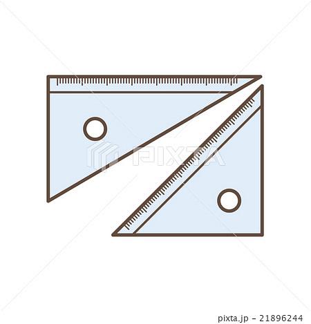 三角定規のイラスト素材 21896244 Pixta