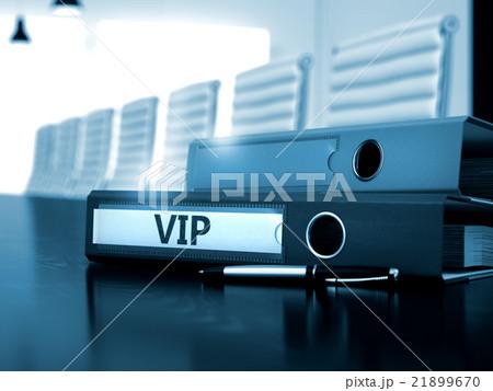 VIP on Ring Binder. Toned Image. 21899670