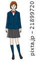高校生 中学生 女子のイラスト 21899720