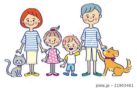 家族とペットのイラスト素材 21903461 Pixta