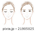 女性の顔 21905025