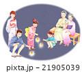 花火を楽しむ三世代 21905039