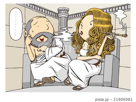 哲学の日・悪妻の日のイメージイラスト 21906981