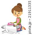 アイロン 主婦 アイロン台 洗濯物【三頭身・シリーズ】 21911335