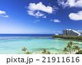 タモンビーチの海と雲 21911616