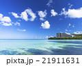 タモンビーチの海と雲 21911631