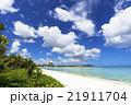 タモンビーチの海と雲 21911704