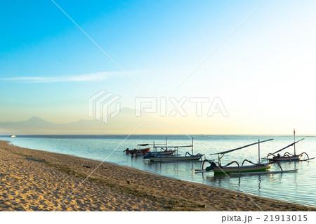 バリ島 サヌール 夜明け ジュクン アグン山 21913015