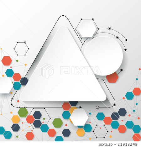 Abstract molecules and communication technologyのイラスト素材 [21913248] - PIXTA