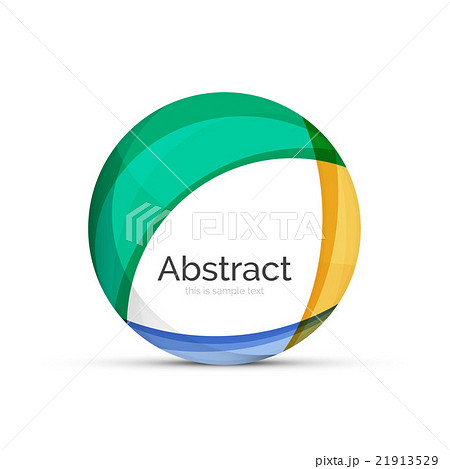 Circle logo. Transparent overlapping swirl shapesのイラスト素材 [21913529] - PIXTA