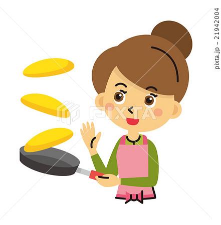 オムライス ホットケーキ 料理【三頭身・シリーズ】 21942004