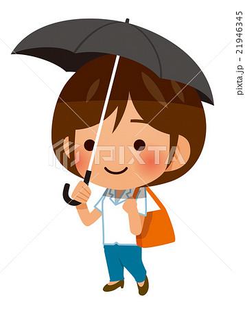 日傘をさして出かける女性 21946345