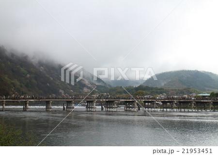 雨の渡月橋 21953451