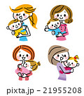 母親 母子 赤ちゃんのイラスト 21955208