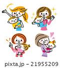 母親 母子 赤ちゃんのイラスト 21955209