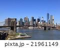 ブルックリンブリッジとマンハッタン 21961149
