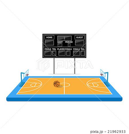 basketball arena with scoreboardのイラスト素材 [21962933] - PIXTA