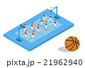 basketball blue field with player formation team 21962940