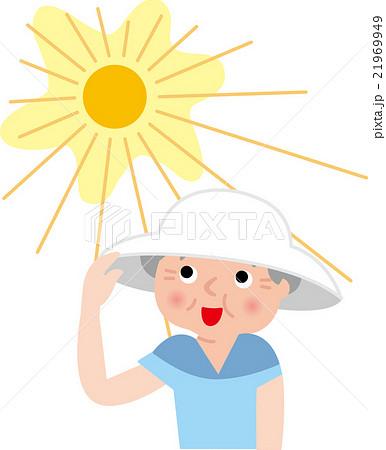 シニア 熱中症対策 帽子 21969949