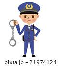 手錠を持った男性警察官 21974124