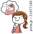 イラスト素材:妊婦と生まれてくる子供 21977180